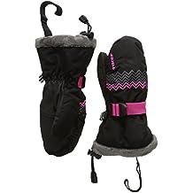 Boreal 6 Racer-Manoplas de esquí para niña, color Varios colores - negro / rosa, tamaño 8 años (talla del fabricante: D 8 años)