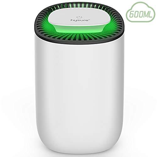 hysure Déshumidificateur, Réservoir d'eau Détachable, Absorbeur d'Humidité Électrique, Pas Besoin de Recharge, Arrêt Automatique, Silencieux, Portable
