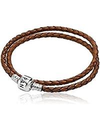 Pandora doble bracalete, marrón