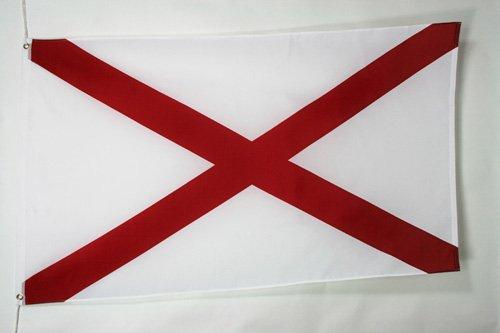 FLAGGE ALABAMA 150x90cm - BUNDESSTAAT ALABAMA FAHNE 90 x 150 cm - flaggen AZ FLAG Top Qualität (Alabama Flag)