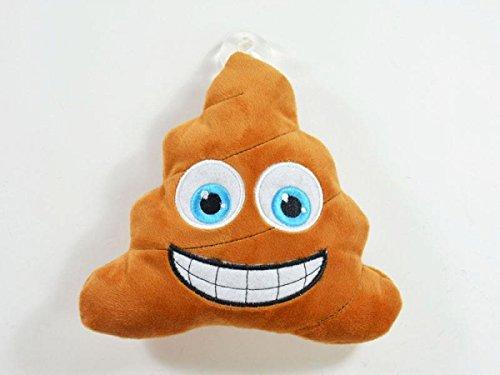 Emoticon, MOGee Poop-Kissen Kackhaufen, mit Saugnapf fürs Auto, 16cm