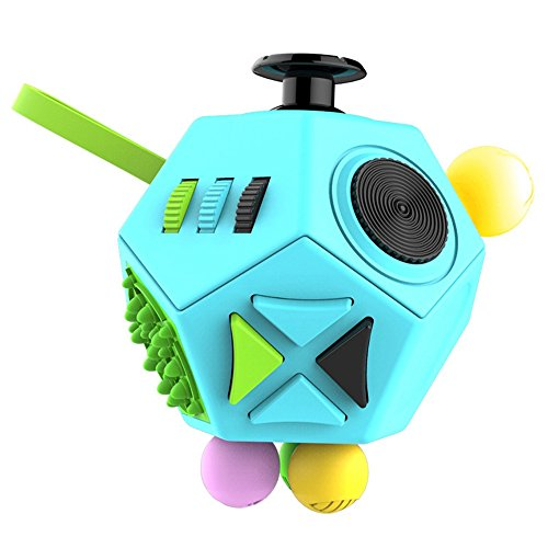 Dohomai Fidget Cube for Children and Adults Relieves Stress Anxiety and Attention Toy at your finger tips (blue)