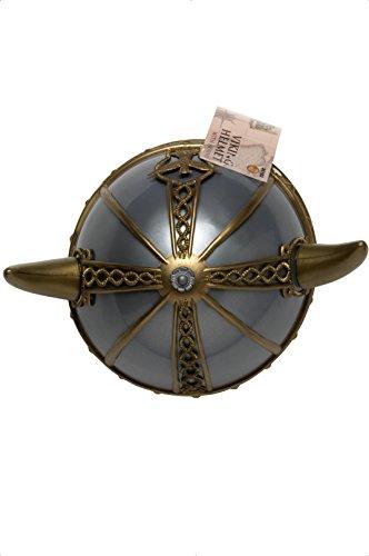ger Helm mit Hörnern, One Size, Silber, 20102 (Damen Wikinger Kostüm Ideen)