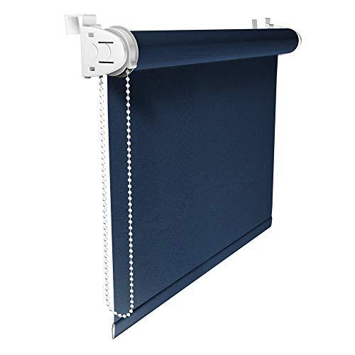 Victoria M. Store occultant - Klemmfix Montage sans percer - Store occultant dans différentes Tailles et Couleurs 45 x 150 cm Bleu-Sombre
