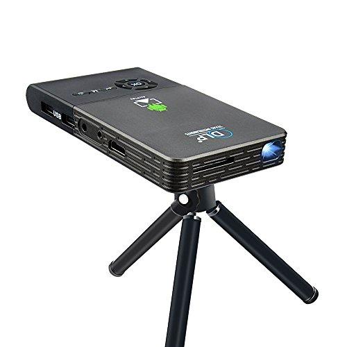 OTHA Mini Projecteur Portable Android Pico Portable DLP Wifi Projecteur de cinéma maison sans fil Construit en batterie 5000mAh (8G)