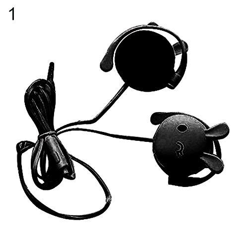 ZqiroLt Kopfh?rer, Cute Rabbit Stereo Earphone mit Mic 3,5mm Ear-Hook Sport Headset Gift-Black Plantronics-adapter Mic