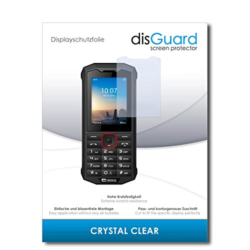 disGuard® Bildschirmschutzfolie [Crystal Clear] kompatibel mit Crosscall Spider X4 [2 Stück] Kristallklar, Transparent, Unsichtbar, Extrem Kratzfest, Anti-Fingerabdruck - Panzerglas Folie, Schutzfolie