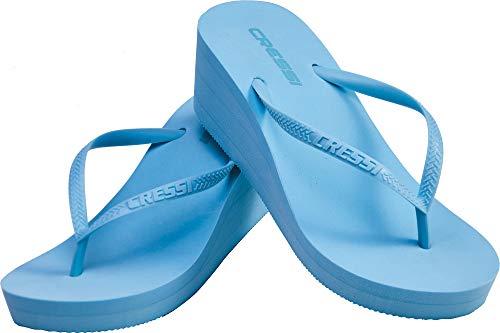 Cressi Lady Flops Marbella High Heel, Ciabatta Infradito Donna, Azzurro, 37/38