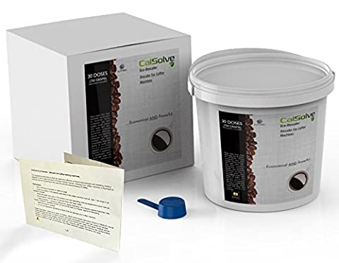 COFFEE MACHINE DESCALER by CalSolve - 30 APPLICATIONS - CalSolve EcoDescaler POWDER - FAST , CHEAP and LONG LASTING Alternative to Liquid Descaling Solutions - 750