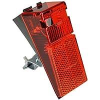 FISCHER Fahrrad LED-Rückleuchte für Schutzblech und Strebenbefestigung   integrierter Reflektor   StVZO zulässig   rot