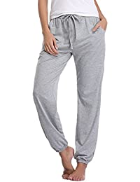 Aibrou Caliente Pantalones de Pijama Mujer Largos Algodon Invierno,Suave Comodo y Suelto