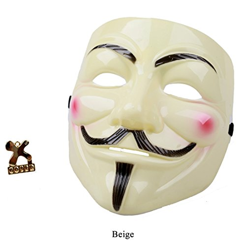 V for Vendetta Maske Fawkes Cosplay Costume in Beige