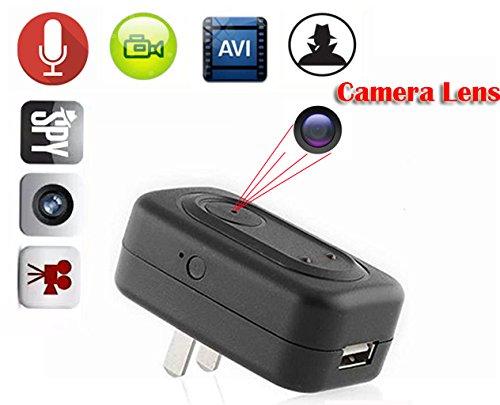 Ac-adapter Kamera Versteckte (EPTEK @ 8GB Mini Spion versteckte AC Adapter Stecker Kamera Wand Ladegerät versteckte Kamera Mini DVR Motion Detection EU / US Netzstecker Nanny Covert Kamera DVR)