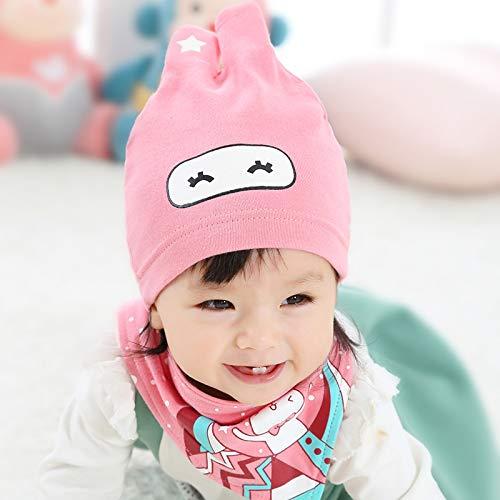 ChildHat 2018 Hut für Kinder,Baby Speichel Handtuch Baby Hut Männer und Frauen Baby Kind Hut Neugeborenes Baby Set 2 Sätze, Kaninchen Star - rosa Anzug, empfohlen 0-2 Jahre alte Kinder