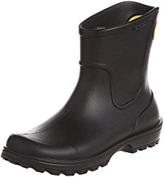 CROCS Mens Slip On Wellie Rain Boots Black (Black) 6 UK