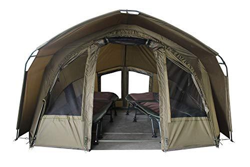 """MK Angelsport \""""Fort Knox 2.0\"""" 2 Mann Dome Zelt Karpfenzelt Angelzelt incl.Gummihammer"""