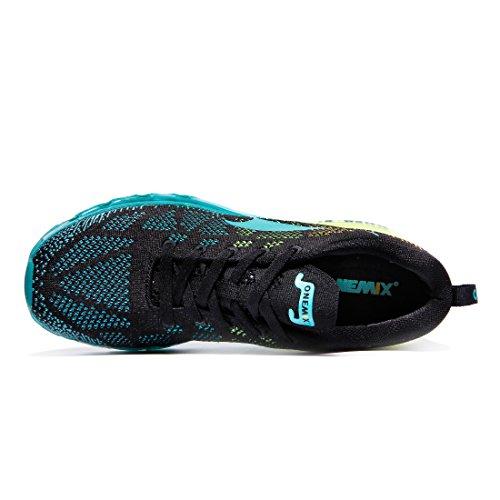 ONEMIX Air Scarpe da Ginnastica Corsa Basse Uomo Sportive Running Sneaker Lago Nero Blu