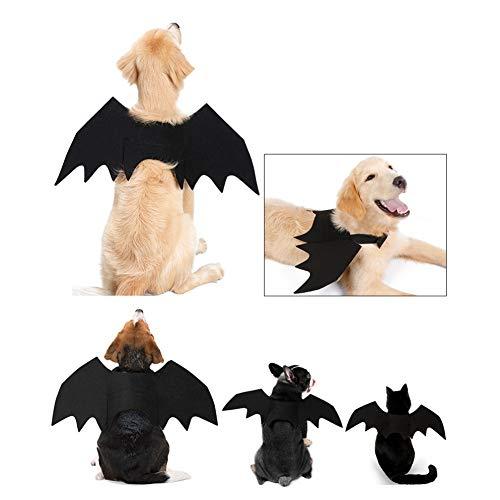 PowerBH Pet Halloween Cosplay Lustiges Kostüm Für Hunde Katzen Welpen Kätzchen Black Bat Wings M (Halloween-kostüme Für Kätzchen Uk)