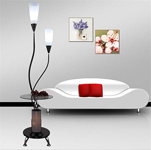 H&M Standleuchte Stehlampe Mutter und Kind Stehleuchte Acryl Lampe Schatten Glas Desktop Schmiedeeisen Base Tee Tisch Stehleuchte, a - Glas Base Stehleuchte