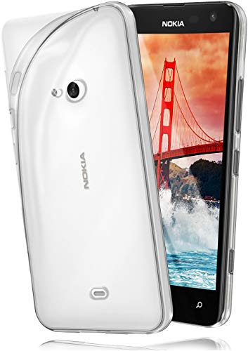 moex Microsoft Lumia 535 | Hülle Silikon Transparent Klar Clear Back-Cover TPU Schutzhülle Dünn Handyhülle für Nokia Lumia 535 Case Ultra-Slim Silikonhülle Rückseite