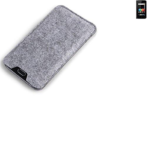K-S-Trade Filz Schutz Hülle für Allview P4 eMagic Schutzhülle Filztasche Filz Tasche Case Sleeve Handyhülle Filzhülle grau
