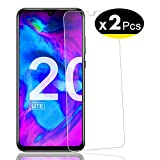 NEW'C Pack de 2, Verre Trempé pour Honor 20 Lite, Film Protection écran - Anti Rayures - sans Bulles d'air -Ultra Résistant (0,33mm HD Ultra Transparent) Dureté 9H Glass