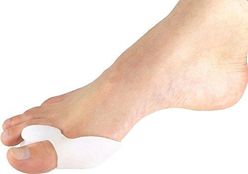 2coppia di alluce valgo premium per dita dei piedi, soft gel, gel, tutore 1del silicone, nuovo