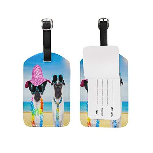 89tAGS4144 Hundegepäckanhänger mit Mops-Motiv, 1 Stück
