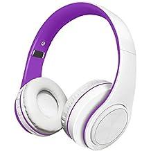 Alitoo Auriculares Inalámbricos Bluetooth Estéreo Plegable Auriculares de Diadema con micrófono Cancelación de Ruido Sobre Oreja
