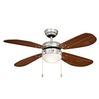 AireRyder FN43336 Ceiling Fan Classic, balde Color Walnut, with Lighting, 50 W, 240 V