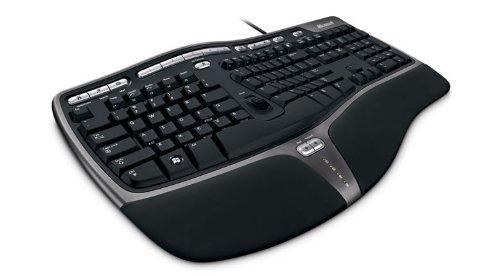 Microsoft Natural Ergonomic Keyboard 4000 USB QWERTY Nordic Schwarz - Tastaturen (Standard, Verkabelt, USB, QWERTY, Schwarz)