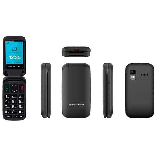 Pantalla de 1.77, Bluetooth, c/ámara de 0.8 MP, MicroSD hasta 8 GB Tel/éfono m/óvil Dual SIM Brigmton 4430040423 Color Amarillo
