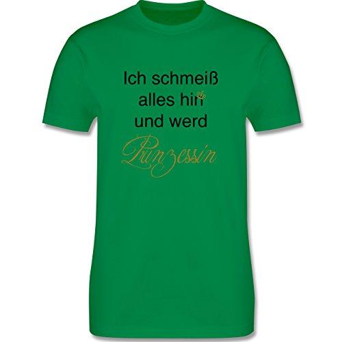 Statement Shirts - Ich schmeiß alles hin und werd Prinzessin - Herren Premium T-Shirt Grün