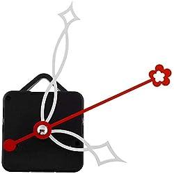 Uhrwerk mit Haken, ruhiger Quarz Uhrwerk weiße und rote Zeiger Mechanismus Werkzeuge Set Kit DIY