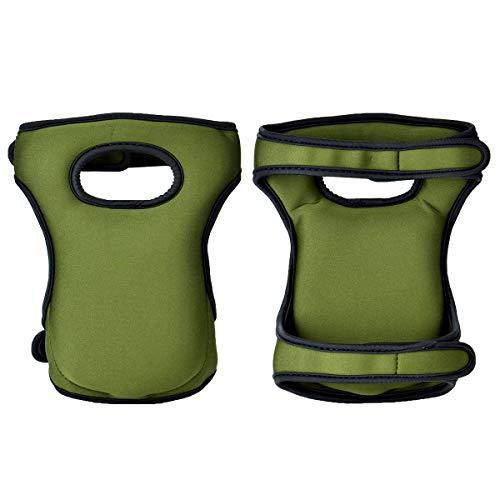 Knieschoner für Haus- und Gartenarbeit 600 D Polyester Knieschützer mit Klettverschluss