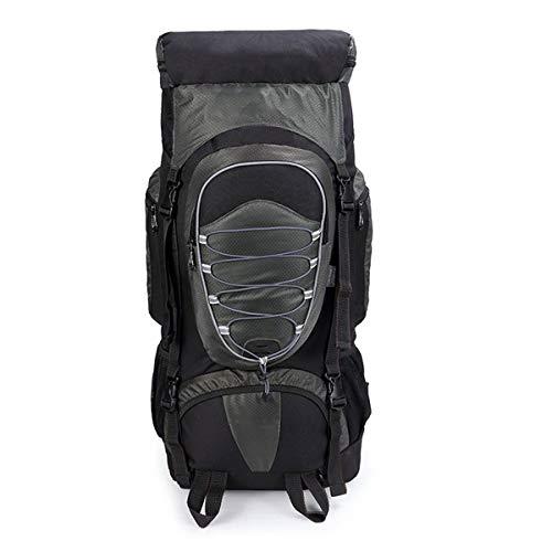DDHXX Große Kapazität Outdoor Rucksäcke Angeln Camping Reise Tagesrucksack Mit Regenschutz Ultraleicht Sport Unisex Daypacks Leicht Für Wandern Rucksack 60L (Color : Gray) - Backcountry-ski-rucksäcke