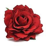Clip rose artificielle Fleur Rose Accessoires cheveux fille Broche 2Pcs Vin rouge
