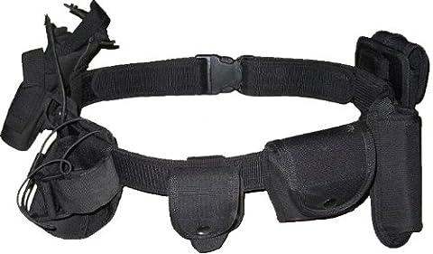 Kenley Einsatz-Gürtel Waffengürtel Koppel Holster – 7 funktionale Fächer – Schwarz
