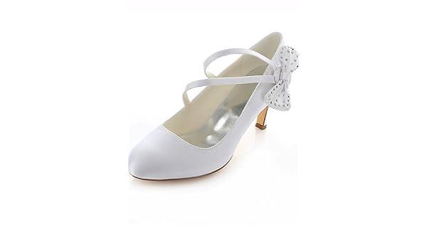Scarpe Sposa The Woman In White.Zq Sposa Scarpe Shoes Col Tacco Tacchi Arrotondata Matrimonio Tip