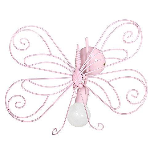 3931 Suspension Murale/Plafond, applicque pour chambre d'enfant, pour fille, farfalla1 Rose.