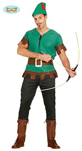 m für Herren Robin Held grün Pfeil Hood Jäger Herrenkostüm M/L, Größe:L (Herren-halloween-kostüm Robin)