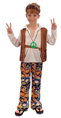 Bristol Novelty CC621 Hippie Junge Kostüm (Kinder Hippie Kostüm)