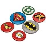 GB Eye BP0488 Set di 6 spille con simboli di eroi dei fumetti DC Comics
