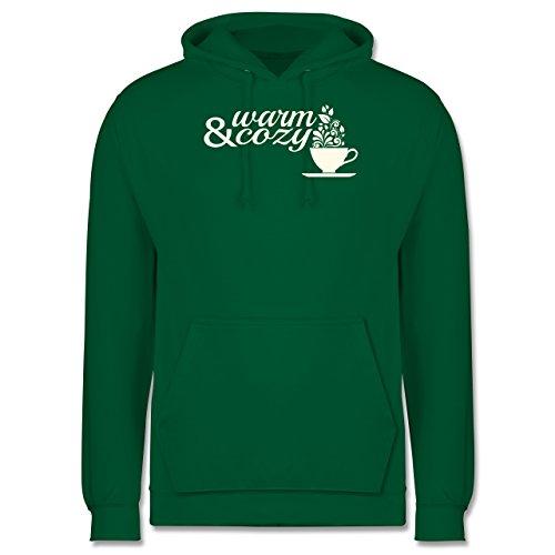 Statement Shirts - Warm & cozy Tee - Männer Premium Kapuzenpullover / Hoodie Grün