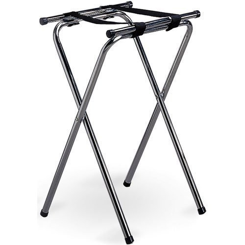 Tablecraft 24 Chrome Plated Double Bar Tray Stand, Tall, 31-Inch by food service warehouse Chrome-plated Tray Stand
