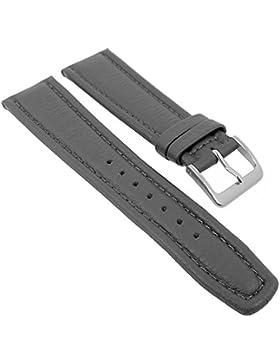 Graf Manufaktur Montana Ersatzband Uhrenarmband Walknappa Band Grau 26346S, Stegbreite:22mm