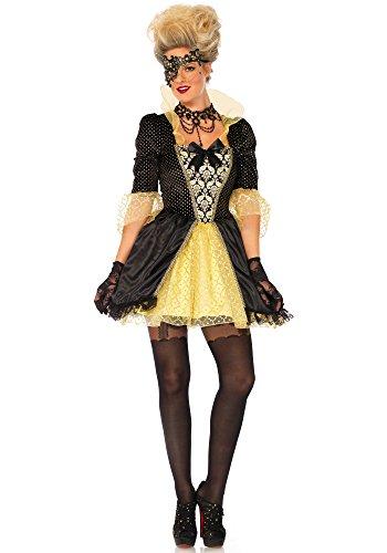 Leg Avenue LO85639 Fantasy Masquerade Kostüm, Schwarz, Gold, Large (EUR 40)