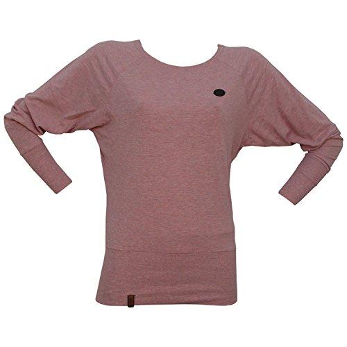 Naketano Female Sweatshirt Groupie, schmutzmuschi pink melang, XS - Herrliche Gerippte Jersey