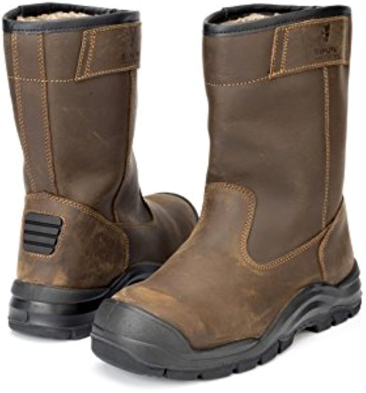 Samurai 1034314006 par de botas Riviera Wooled S3 HRO HI CI WR SRC, marrón, 43
