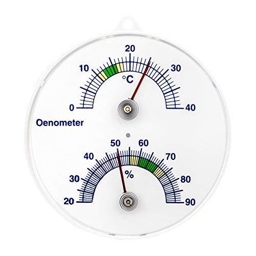 Lantelme 3204 Cave à vin thermomètre et hygromètre analogique bimétallique thermomètre à vin önometer